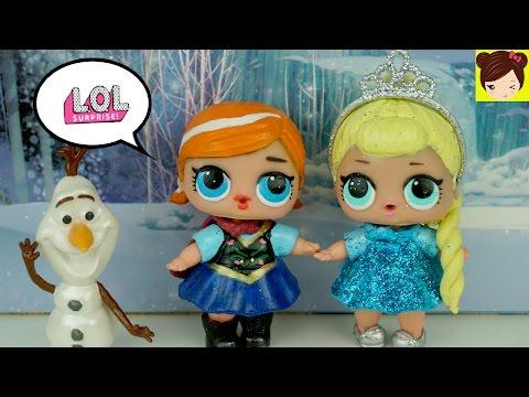 Muñecas L.O.L Sorpresa Pintadas como Bebe Elsa  y Anna de Frozen DIY   -  Juguetes de Titi