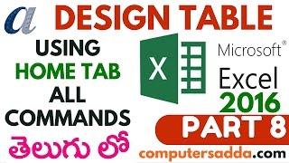 Ms-Excel 2016 in Telugu 08(Design Table) (www.computersadda.com)