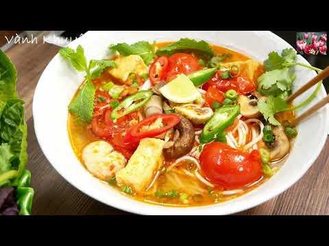 Cách nấu BÚN CHAY - Chay hay mặn đều ăn được - Bún Nấm Sa tế Đậu hủ Cà Chua thơm ngon by Vanh Khuyen