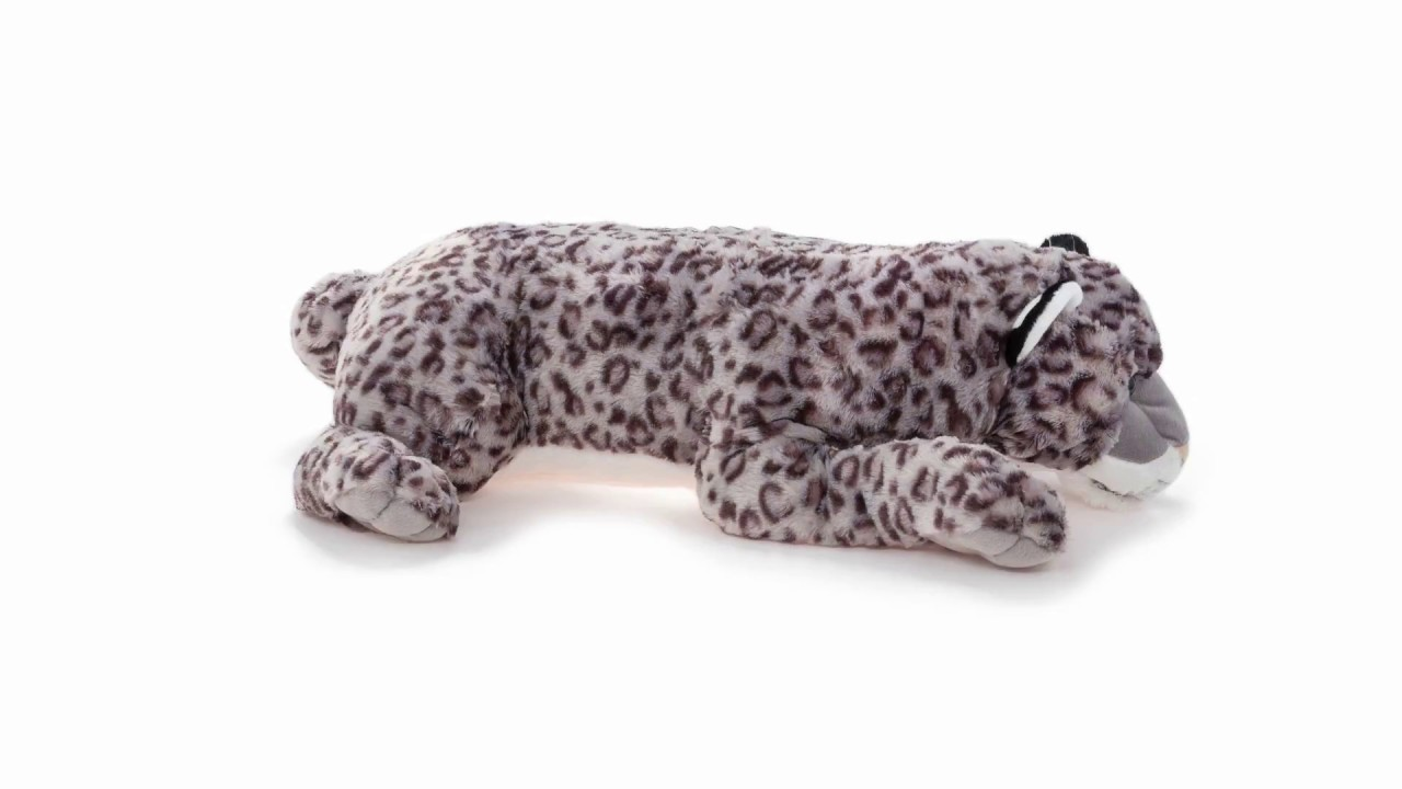 Cuddlekins Jumbo Snow Leopard Plush Stuffed Animal 360 View Wild