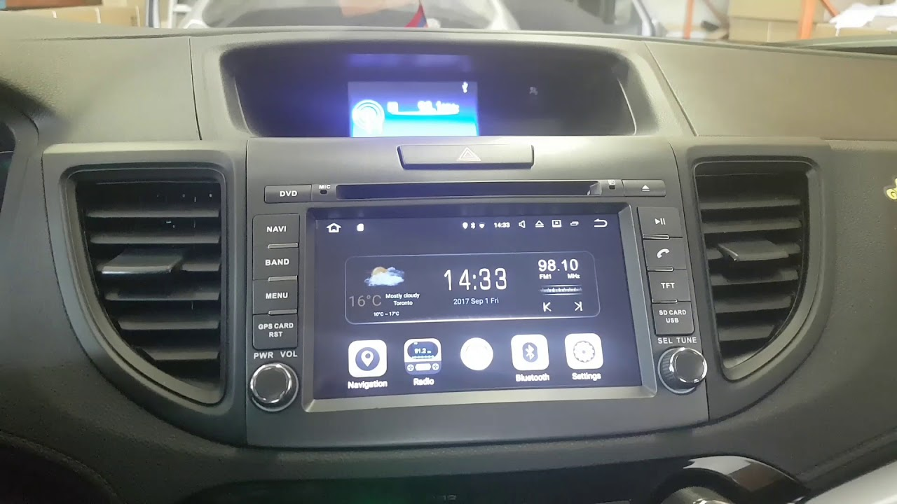 Installation Oem Fit Navigation Android System 2017 2016 Honda Crv