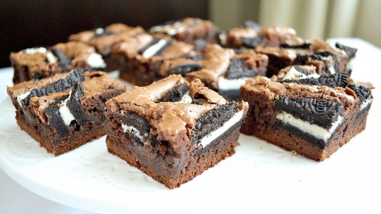 Brownie de Oreo - Acomerpe.com