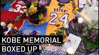 Personal Mementos Left at Kobe Bryant's Staples Center Memorial Boxed Up | NBCLA