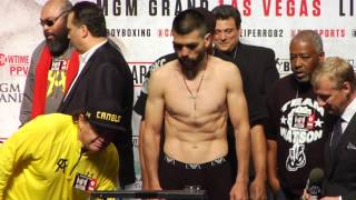 Canelo Alvarez-Alfredo Angulo weigh-in