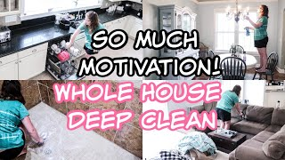 New! Messy Whole House Clean #WithMe 2020 | All Day Cleaning | SAHM Motivation