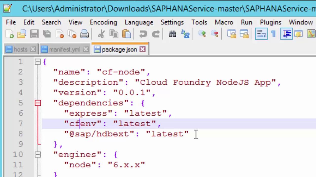 SAP HANA Academy - SAP CP HANA service: 03  Deploy Application