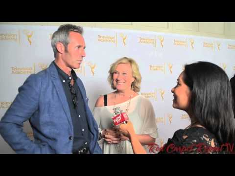Michael Gill & Jayne Atkinson at the 66th Emmy Awards Producers Peer Group Reception #Emmys
