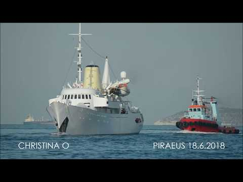 CHRISTINA O arrival at Piraeus Port