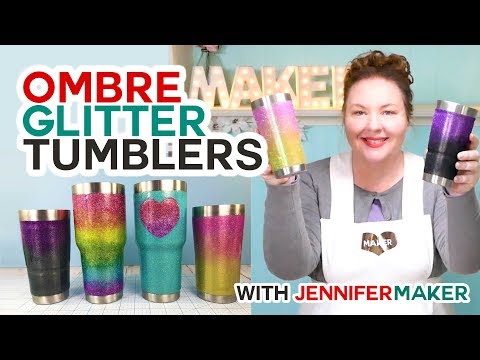 Ombre Glitter Tumbler Tutorial (Rainbows, Too!)