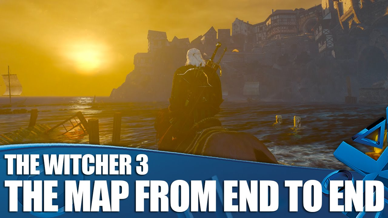 The Witcher 3 Gameplay - The Map From End To End - YouTube