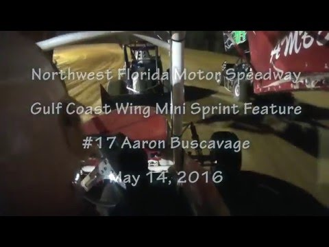4 /4/16 Northwest Florida Speedway #17 Aaron Buscavage Gulf Coast Winged Mini Sprint Feature