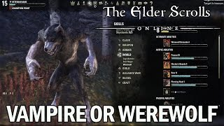 Preparing for Imperial City: Vampire vs Werewolf in The Elder Scrolls Online