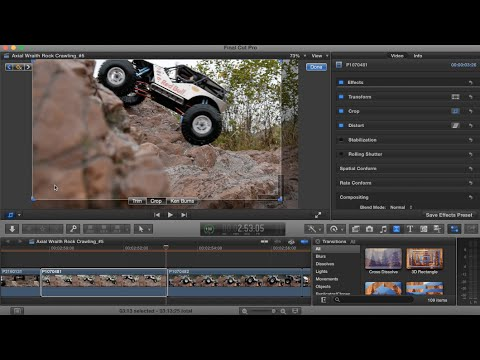 how to crop video in final cut pro