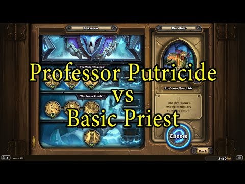 Hearthstone: Professor Putricide with a Basic Priest Deck