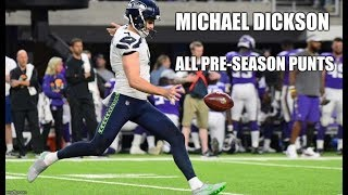 Michael Dickson #4 | 2018 Pre-Season HD Highlights ALL Punts | Australian Rookie Punter