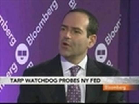 N.Y. Fed Investigated by Barofsky Over AIG Bailout: Video