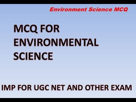 ENVIRONMENTAL SCIENCE AND ECOLOGY MCQ FOR UGC NET AND OTHER EXA