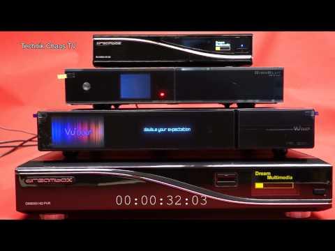 VU+ DUO2 - Gigablue HDQUAD - Dreambox 8000 / 800se BootUP Zeit