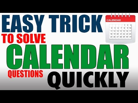 EASY TRICK TO SOLVE CALENDAR QUESTIONS QUICKLY | REASONING