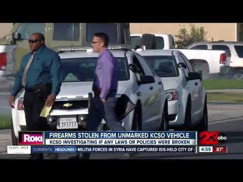 Firearms stolen from unmarked KCSO vehicle