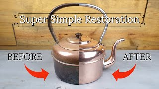 Incredible Antique Copper Kettle Restoration | Quick and Easy Transformation