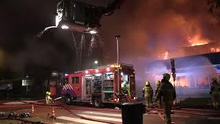 Grote brand Heerhugowaard