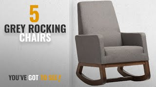Top 10 Grey Rocking Chairs [2018]: Baxton Studio Yashiya Mid Century Retro Modern Fabric Upholstered