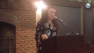 Miranda Gilbert of Spartanburg talks about drug addiction at Cleveland Park