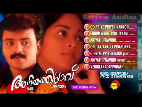 evergreen songs nonstop malayalam film songs varamanjal k j yesudas pranayavarnangal aniyathipravu ouseppachan vidyasagar meesamadhavan gireesh puthanchery devadoothan kaithapram m g sreekumar meenathil thaalikettu ayaal katha ezhuthukayanu raveendran summer in bathlehem k s chithra krishnagudiyil oru pranayakalathu mohan sithara s ramesan nair meghamalhaar p jayachandran top malayalam hits best of malayalam old malayalam film songs old film songs m jayachandran p jayachandran ennu ninte moidee aniyathipraavu is a malayalam musical-romance film directed by fazil and produced by swargachitra appachan. it stars kunchacko boban and shalini in the lead roles. the music was composed by ouseppachan with the lyrics by s. ramesan nair.  subscribe n
