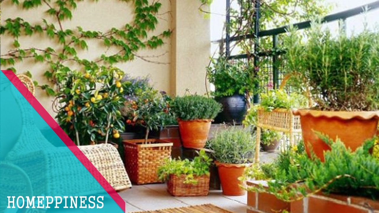 Must watch 30 cheap small balcony garden ideas with for Small terrace garden ideas