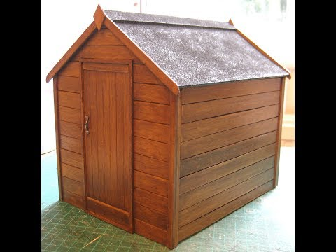 1/12th Scale Garden Shed Tutorial - Part Two