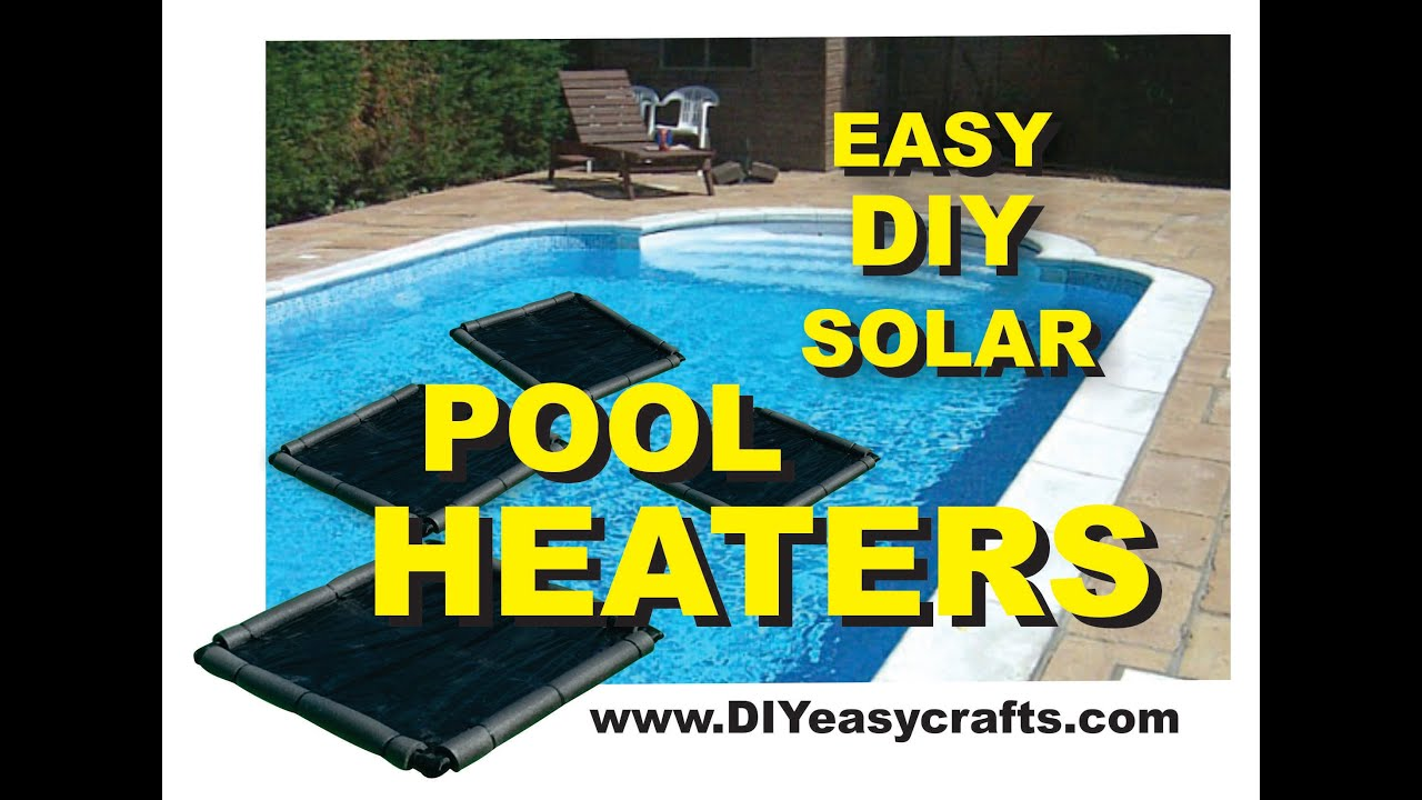 how to make a easy diy solar pool heater youtube