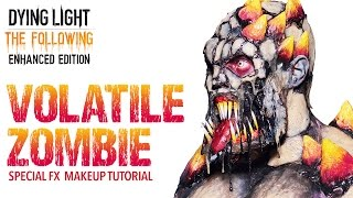 epic zombie halloween makeup tutorial volatile zombie dying light the following enhanced edition