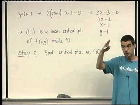 52 -   A two variable example of Lagrange multipliers