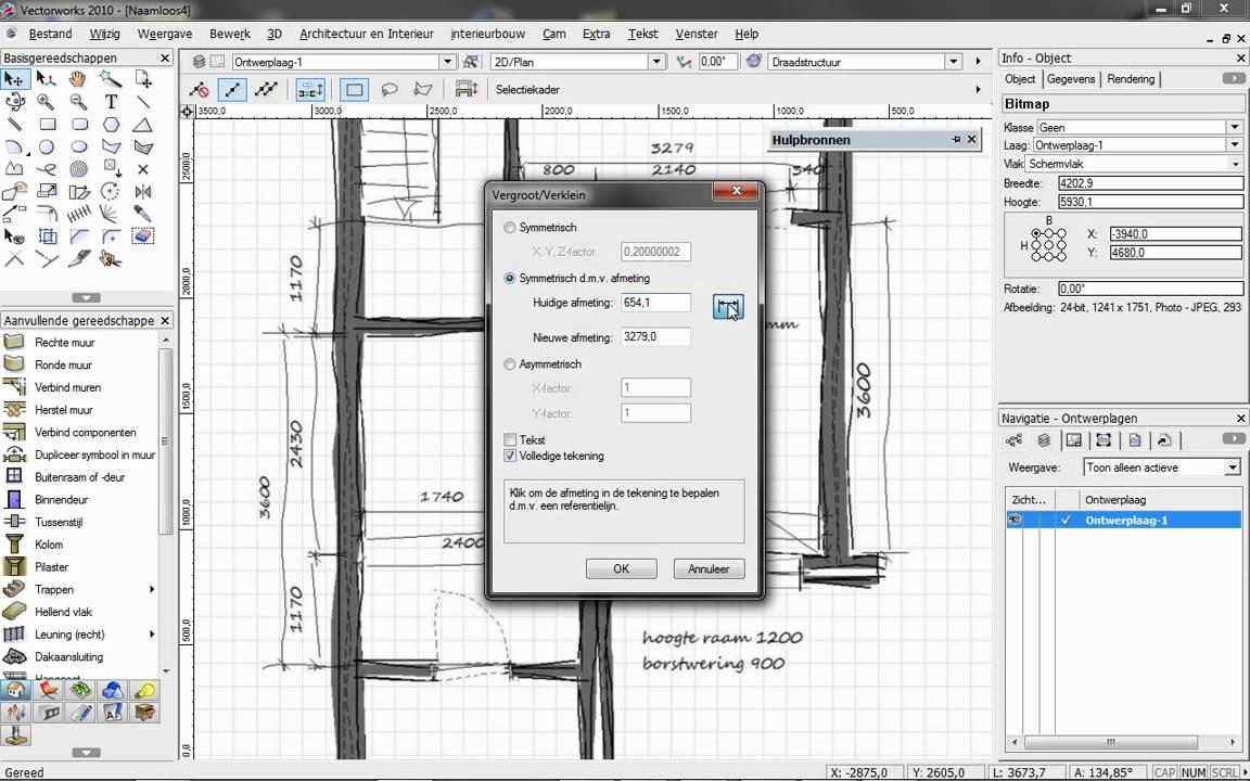 Vectorworks Kastelement Maken En Presenteren Stap 1