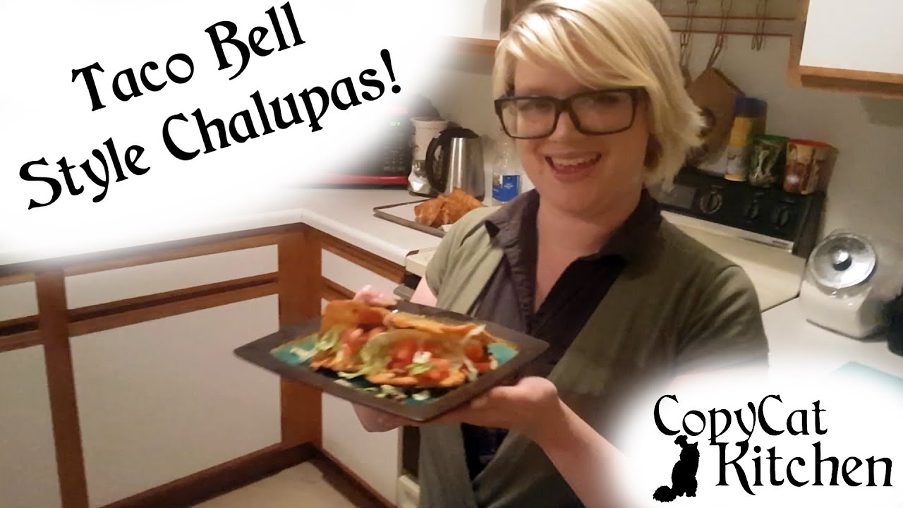 Taco Bell Kitchen taco bell style chalupas! - youtube