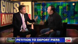 Alex Jones vs Piers Morgan On Gun Control - CNN 1/7/2013
