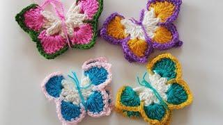 Örgü Kelebek /Buzdolabı Süsü/ Crochet Butterfly