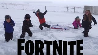 FORTNITE DANCE CHALLENGE in the SNOW! (In Real Life)