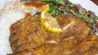 Pan Fried, Cajun, Flounder 2/2 Chef John The Ghetto Gourmet