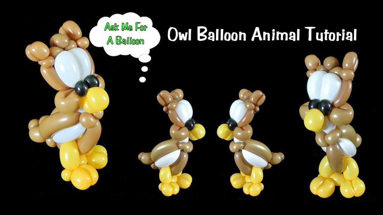How To Make Owl Balloon - Balloon Animal Tutorial - YouTube