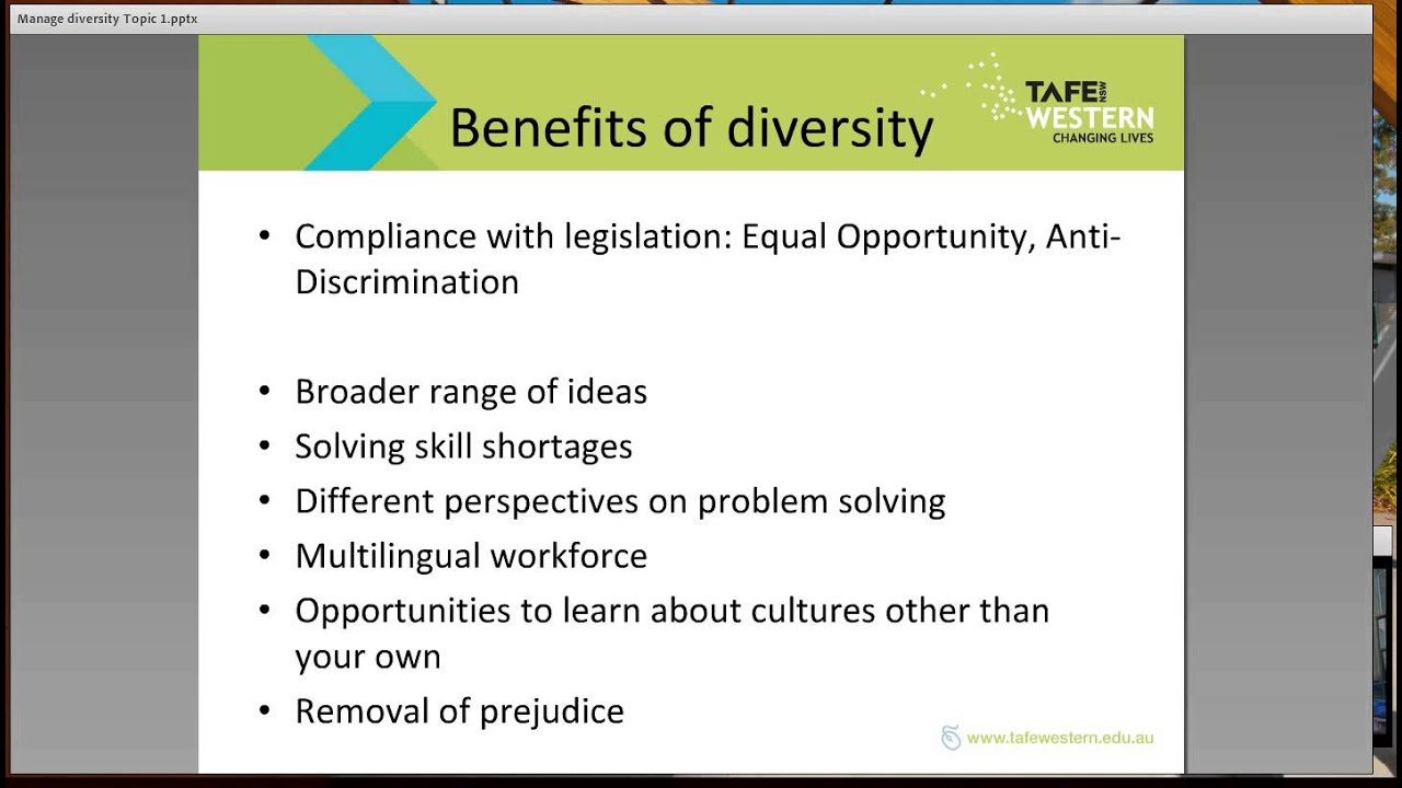 chcdiv topic research diversity in the workplace chcdiv003 topic 1 research diversity in the workplace