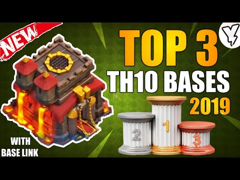 TOP 3 [NEW] BEST TH10 HYBRID/FARMING/DEFENSIVE BASE 2019 | TH10 BASE DESIGN TESTED WITH LINK!! - COC