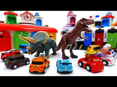 Thumbnail: Defeat The Dinosaurs With Shooting Cars~! Tobot Tayo Pororo Shooting Car Toy