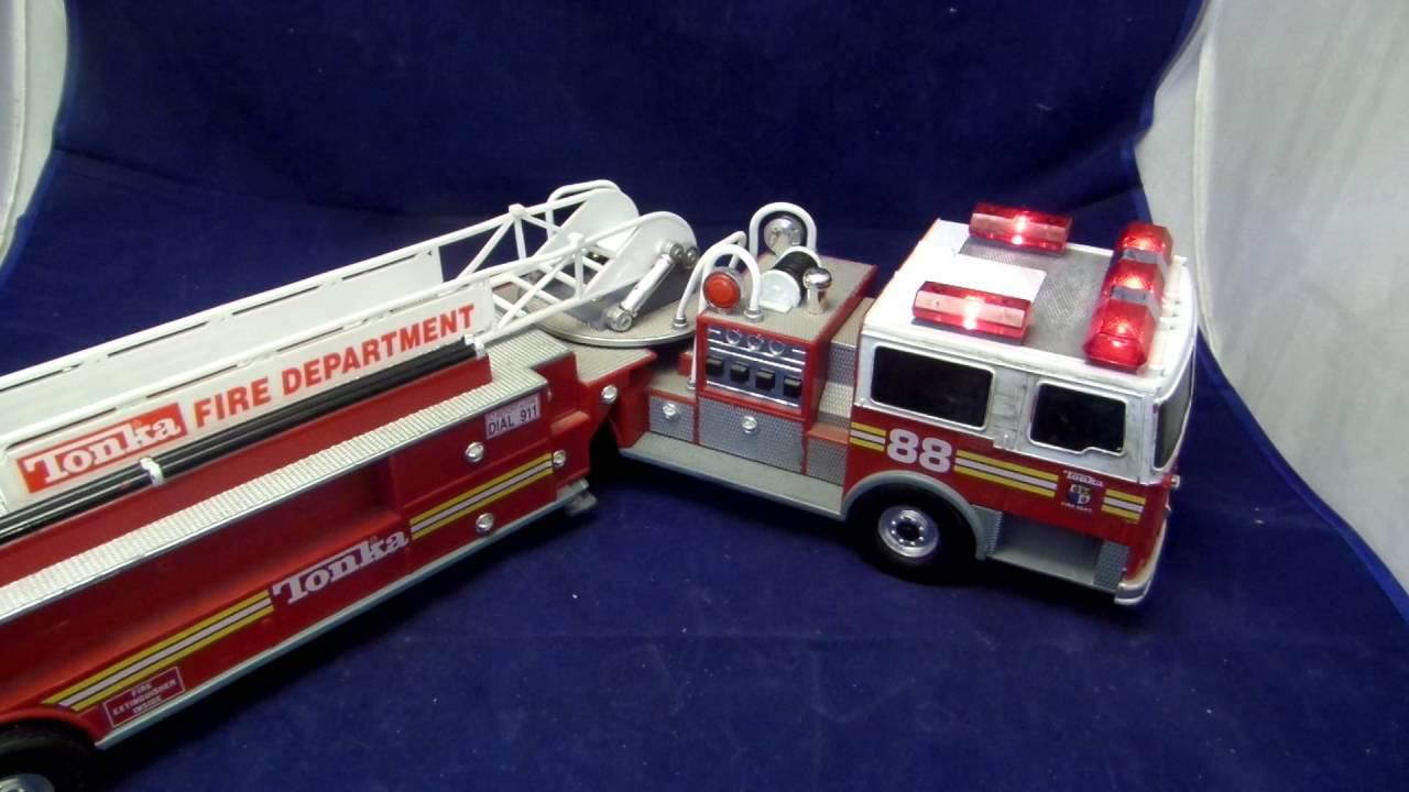 Tonka Trucks Ebay >> Tonka fire truck ladder truck 88 for sale on Ebay - YouTube