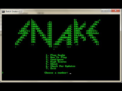 How to make a Snake Game in Notepad! - YouTube