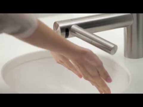 dyson airblade tap air drying technology in a tap