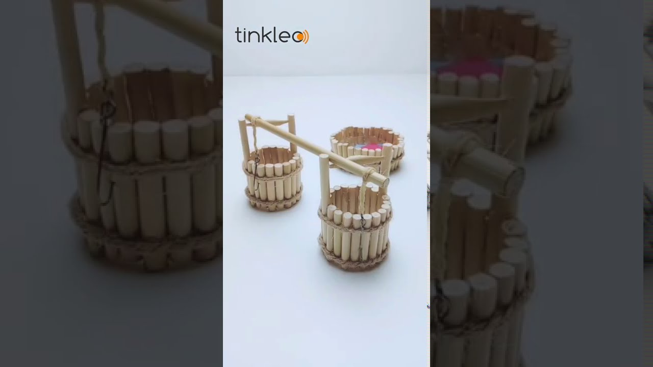 How to Make Mini Bamboo Water Basket Decoration