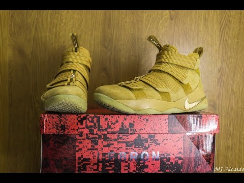 4f17fb0fa3de8 Nike Lebron Soldier XI (11) SFG EP Wheat Metallic Gold on Foot
