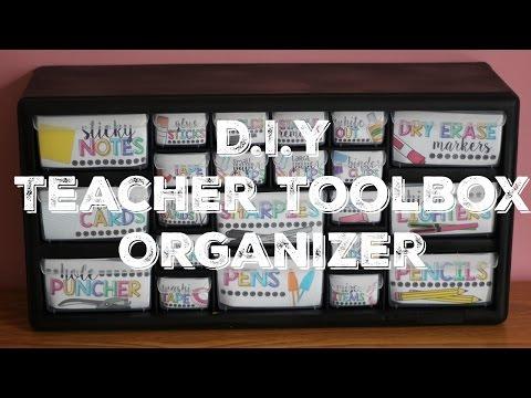 ♡ DIY Teacher Toolbox Organizer ♡
